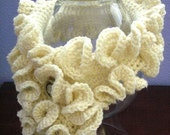 Ruffled Neckwarmer Scarflette Crochet Pattern PDF - permission to sell what you make