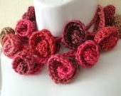 Rose Lariat Scarf  Crochet Pattern PDF - permission to sell what you make on all my patterns