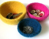 Chubby Felt Wool Bowls in 6 sizes Crochet Pattern PDF  - permission to sell what you make on all my patterns