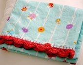 Pair of 2 Upcycled Pillow Cases with Crocheted Trim