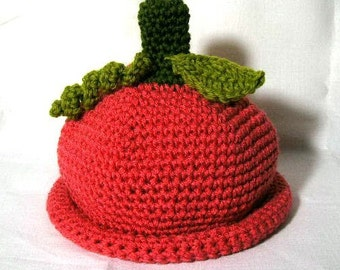 Crochet Pattern  PDF Grownup Pumpkin Cap - permission to sell what you  make
