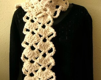 Lacy Scarf and Neckwarmer no.2 Crochet Pattern PDF - permission to sell what you make