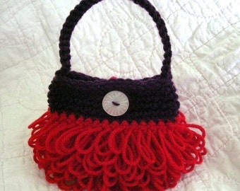 Little Loopy Purse Crochet Pattern PDF - permission to sell what you make