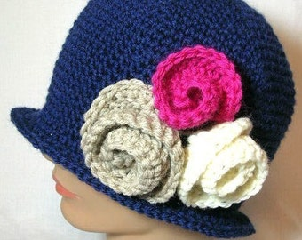 Roaring 20s Flapper Hat  Crochet Pattern PDF - permission to sell what you  make