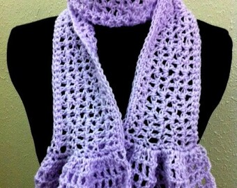 Lacy Scarf no. 4 with Ruffles Crochet Pattern PDF - permission to make what you sell