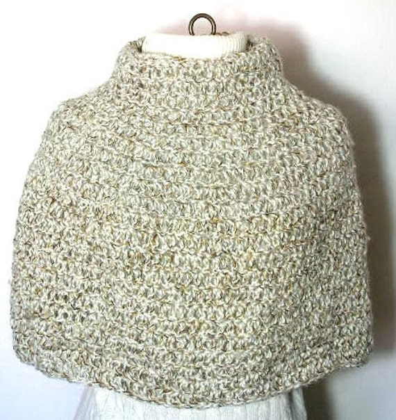 Long or Short Crocheted Shrug Poncho Pattern PDF in sizes S, M, L and XL - permission to sell what you make