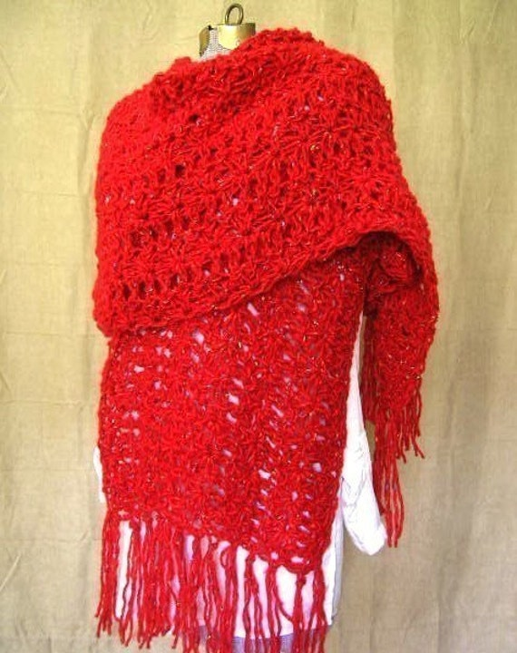 Vintage Inspired Shawl Crochet Pattern PDF - permission to sell what you make