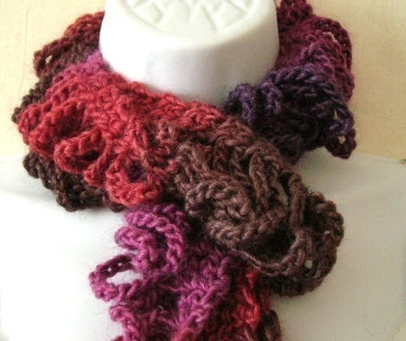 Shredded Scarf Crocheted Pattern PDF   EASY - permission to sell what you make