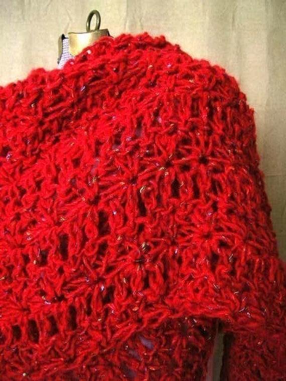 Vintage Inspired Shawl Crochet Pattern PDF permission to