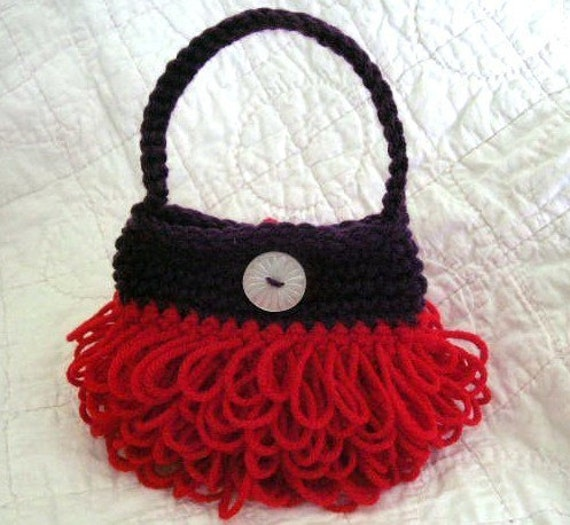 Little Loopy Purse Crochet Pattern PDF - permission to sell what you ...