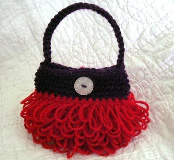 Crochet Little Purse : Little Loopy Purse Crochet Pattern PDF - permission to sell what you ...