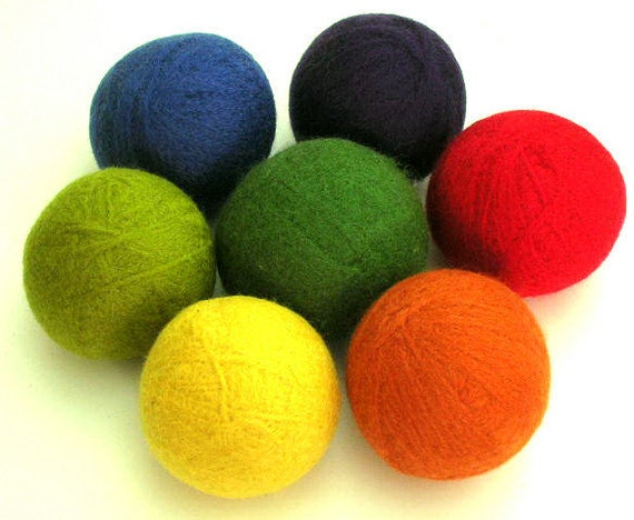 Eco-Friendly Wool Yarn Felted Dryer Balls DIY Tutorial PDF