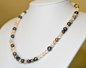 Classic  Elegant Freshwater Pearl Sterling Necklace