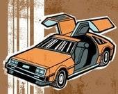 DeLorean (8x8, Print)