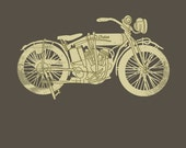 Indian Motorcycle (11x14, Print)