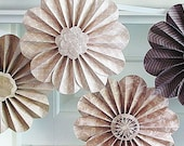 garland paper flowers brown elegant wedding masculine feminine