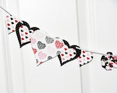 ON SALE party decoration, sweet 16 party decor, paper hearts, party decor, heart garland, valentine party decoration, photo shoot prop