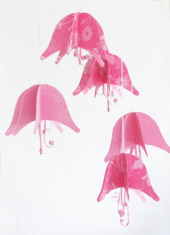paper flowers hanging mobile garland