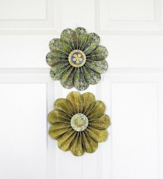ON SALE paper flower garland, flower mobile, boho decoration, photo shoot prop, home floral decor
