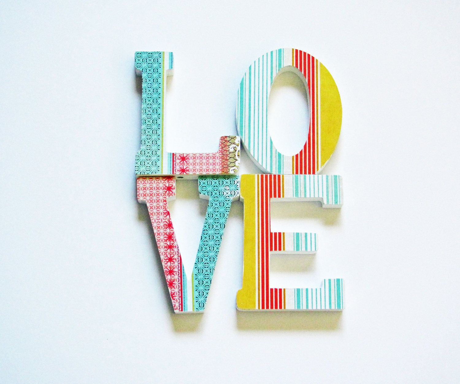 letters love wall shelf decor boho turquoise by cozyhomebytj