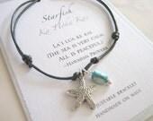Starfish Adjustable Cord Bracelet