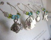 Sealife Wine Glass or Goblet Charms