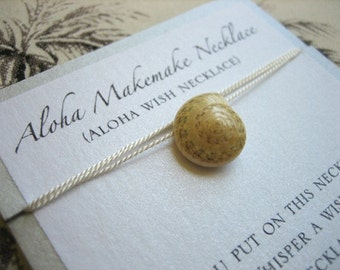 Aloha Wish Necklace - Spiral Seashell