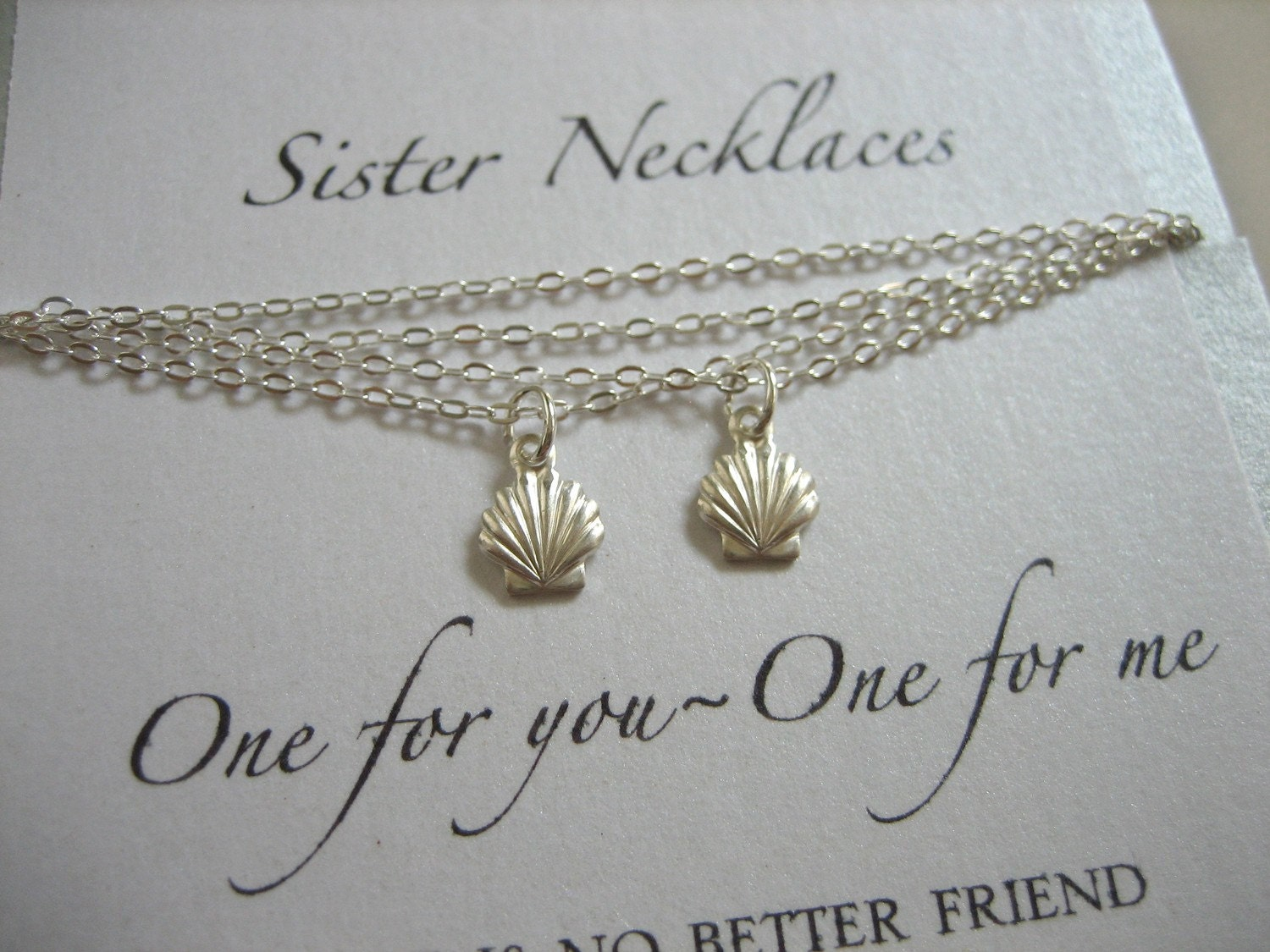 Expensive Wedding Gift For Brother : Sister Necklaces Shell