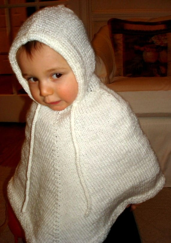 Hooded Toddler Poncho Knitting Pattern : Childs Hooded Poncho PATTERN by dreamlandknits on Etsy
