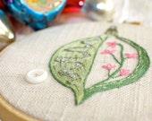 Hand Embroidery Ornament Hoop Art Home Decor  Garden Retro Christmas
