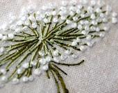 Fiber Art Queen Annes Lace Fabric Textile Hand Embroidery Home Decor