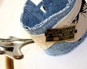 Mens Denim Cuff West Coast Hardware Leather unisex