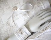 Personalized Bridal Ring pillow with wristlet cuffs wedding hand embroidery heirloom