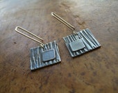 Scratchy Squares Earrings