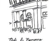 Art print of the Cafe le Nemours in Paris, France