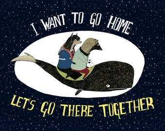 I Want To Go Home Greeting Card
