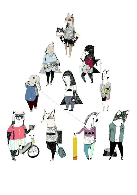 Triangle 5 x 7 Print