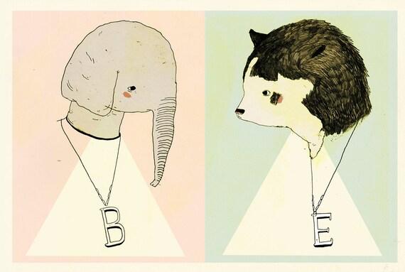 Elephant Bear Greeting Card