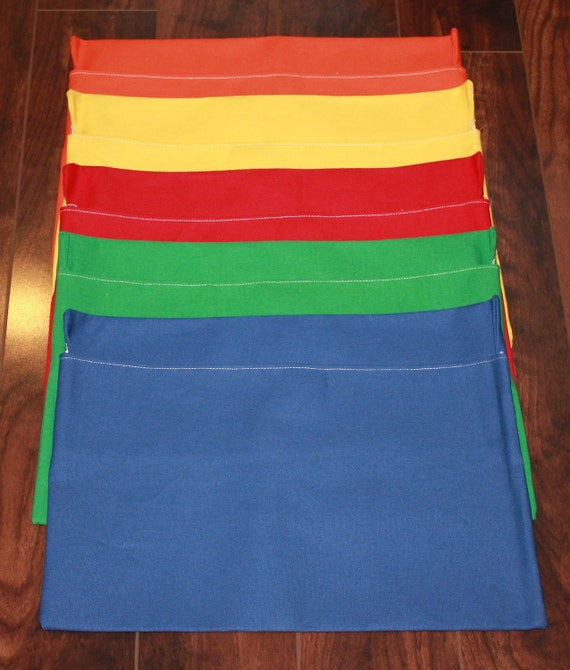 10 MEDiUM Chair Pockets **FREE SHIPPING in The US** Seat Desk Sack Fits Medium Chairs You Choose COLoR(S) Pockets are Washable