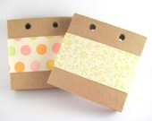 Kraft Paper Square Tags (100) 3 Inch - Middle Hole Punched