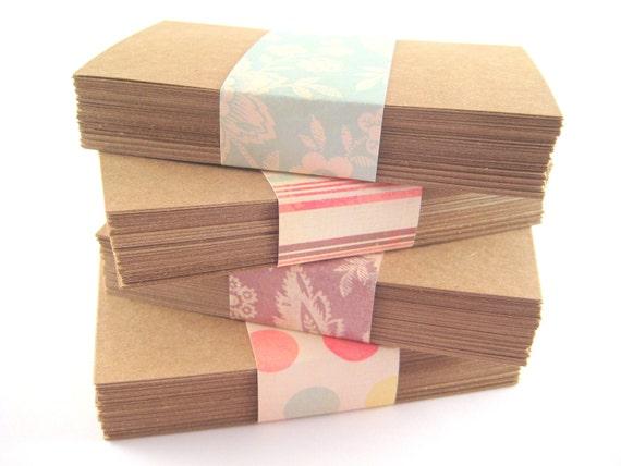 Kraft Paper Business Cards (200) - DIY - Blank
