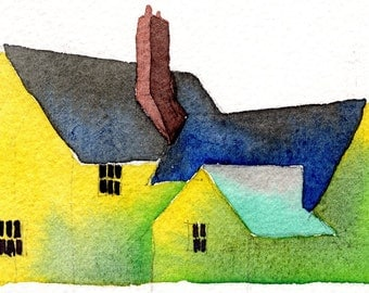 English Cottage 1-Print