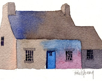 English Cottage 2-Print from an original watercolor painting