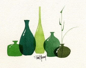 Greens-Print from an original watercolor painting