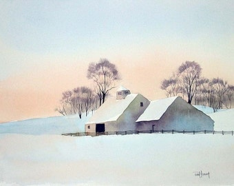 Minus Eleven Degrees-Print from an original watercolor painting