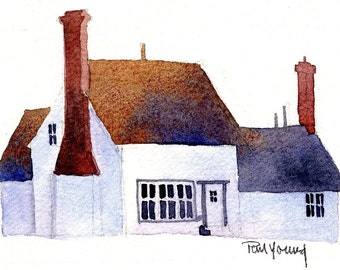 English Cottage 4-Print