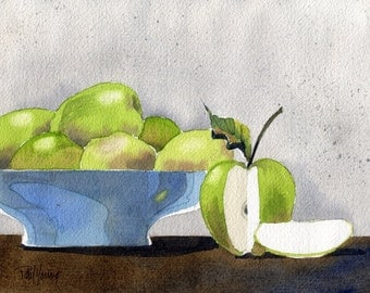 Apples-Print from an original watercolor painting
