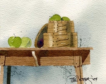 Shaker Artistry Two-Print from an original watercolor painting