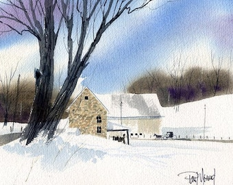 Amish Country-Print from an original watercolor painting