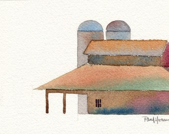 Barn 4-Print from an original watercolor painting